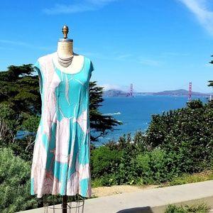 Anthropologie Partimi Printed Swing Dress, Sz L